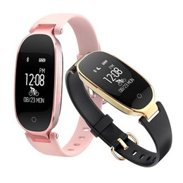 Activity bAnds online shopping - S3 Smart Wristbands Fitness Bracelet Heart Rate Monitor Activity Tracker Smartwatch Band Women Ladies Watch for IOS Android Phone
