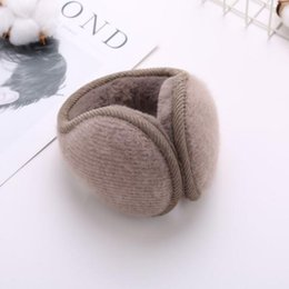 $enCountryForm.capitalKeyWord NZ - Wool folding ear muffs winter fashion knitted protection warm ear cover plush after adult wear ear bag