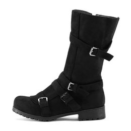 e10aac53c48 Shop Woman Buckle Combat Boot UK | Woman Buckle Combat Boot free ...
