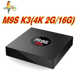 Android Box Tv 16g Canada - 2018 new Stock M9S K3 Android 6.0 OTT TV BOX Rockchip RK3229 1G 8G 2G 16G bluetooth H.265 Multimedia Player Bet Amlogic S905X S912