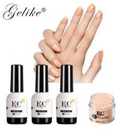 $enCountryForm.capitalKeyWord NZ - Gelike Dipping Powder Kits Set 10g Box 10ml Base Top Coat Activator Dip Powder Nails No Liquid Primer UV Light Color