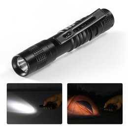 $enCountryForm.capitalKeyWord NZ - Mini Powerful LED Flashlight Portable Strong Light Aluminum Alloy Torchlight with Clip Pocket torch for diving Hiking Hunting