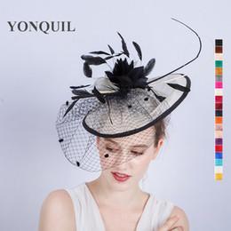1a3eb36becb7b New siNamay church hats online shopping - New Elegant Ladies Sinamay  Wedding Fascinator Hat Bridal Cocktail