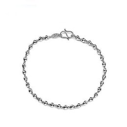 Bracelets Beads carved online shopping - New Arrival Pure Platinum Bangle Women Lucky Carved Bead Bracelet inch