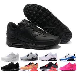 new concept 05b1c fa30c Nike Air Max Hommes Baskets Chaussures Classique 90 Hommes et Femme  Chaussures Sport Entraîneur Air Coussin Surface Respirant Chaussures De  Sport 36-45