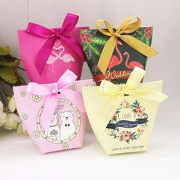 Pack Supplies Australia - 10pcs Candy Box Wedding Gift Bag Packing Box Party Favors Wedding Baby Shower Birthday Candy Cookie Bag Christmas Party Supplies