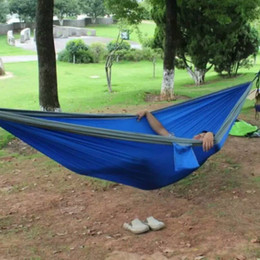 Discount people accessories - Indoor Outdoor Hanging Hammock Couple Two People Strengthen Parachute Cloth Strong Rope For Travel Camping Beach