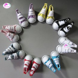 canvas one shoes NZ - one pair 5cm toy doll Shoes fashion Denim Canvas Mini Sneakers Shoes for 1 6 Bjd doll Accessories