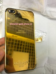 $enCountryForm.capitalKeyWord Australia - High Quality Free ship goldco 24ct Gold battery back for iphone7 plus real gold 24kt 24ct Limited Edition Golden Back Cover Back Housing