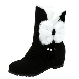 $enCountryForm.capitalKeyWord UK - winter shoes women Suede Bow Tassel Round Toe Wedges Shoes Keep Warm Slip On Snow Boots platform boots plus size dropshipping