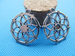 Connectors 4mm Australia - 100pcs Antique Silver tone Hollow Dream Catcher Connector Pendant Charm Finding,For Bracelet Necklace,For 4mm Cabochon