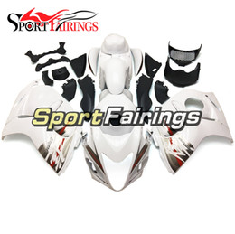 Discount hayabusa grey fairing - Fit For Suzuki GSXR1300 Hayabusa Year 2008 - 2016 ABS Injection Motorcycle Bodywork High Quality Fairing White Red Grey