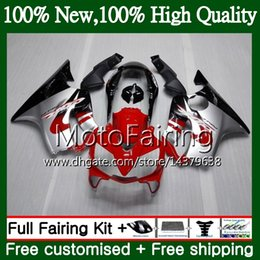 Body For HONDA CBR600F4 CBR600 F4 99 00 FS 44MF13 CBR 600F4 CBR600FS 600 Red Silvery 1999 2000 Fairing Bodywork Kit
