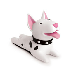 China Semk Cute Cartoon Dog Door Stopper Holder Bull Terrier PVC safety for baby Home decoration Dog Anime Figures Toys for Children suppliers
