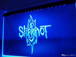 LF107b- Slipknot Band Logo Rock n Roll LED segno luce al neon