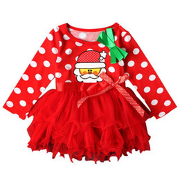 $enCountryForm.capitalKeyWord Australia - Baby Girls Christmas Tutu Dress Girl\'s Merry Christmas Summer Dress Girls Cotton Dot Casual Dresses vestido