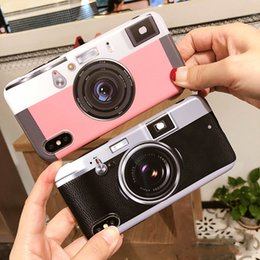 Wholesale Retro Camera Soft TPU Phone Case Cover With The Same Pattern Expandable Finger Grip Cell Phone Holder for iphone x DHL