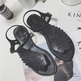 700ec152b 2018 summer fashion Jelly sandals women shoes female fashion flat flip  wings personalized flip flops sandals Gladiator Shoes