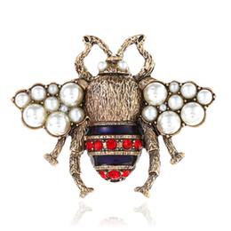 $enCountryForm.capitalKeyWord UK - Korea Handmade Cute Alloy Imitation Pearl Bee Badge Brooches Pins Fashion Jewelry For Girl Woman Accessories