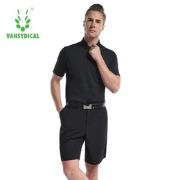 Polo Sportswear NZ - New High Quality Men Sports Golf Polo Shirt with Shorts Solid Clothing T Shirt Turn-down Collar Breathable Sportswear Clothes