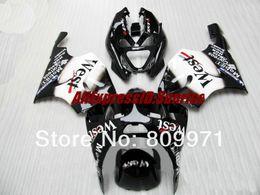 Kawasaki Zx 7r Fairings Australia - K245 Mobil WEST white black full Fairing for KAWASAKI Ninja ZX7R 96-03 ZX-7R1996-2003 ZX 7R 96 97 98 99 00 01 02 03 1996 2003