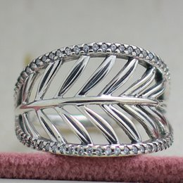$enCountryForm.capitalKeyWord Australia - 100% 925 Sterling Silver Tropical Palm Ring with Clear CZ Fits European Pandora Style Charms Jewelry