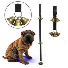 Wholesale Adjustable Dog Bells for Potty Training Doorbell Rope Housetraining Communicate Alarm Puppy Door Bell Dogs Housebreaking AAA1187