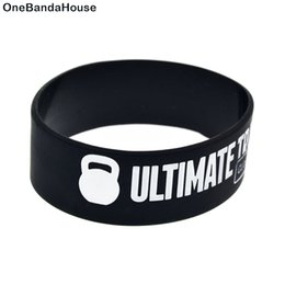 China Wholesale 50PCS Lot 1 Inch Wide Bracelet Ultimate Training Crossfit Dream Silicone Wristband no Gender Jewelry suppliers