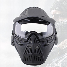 Paintball full face Protective mask online shopping - Full Face Airsoft Paintball Mask Outdoor Equipment Halloween Cosplay Horror Gost Masks Protective Sunshade Lens Helmet Masquerade tq jj