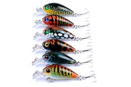 $enCountryForm.capitalKeyWord NZ - Wholesale 6pcs Brand Fishing lure 4.5cm Fishing Bait 4g Crankbait 6 Color Fishing Tackle 10# Hook Fish Lures 3D Eyes Lures