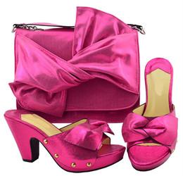 944bf0e03e373 Gorgeous fuchsia women pumps and big bag with bowtie design african shoes  match handbag set for dress YM006,heel 9.5CM