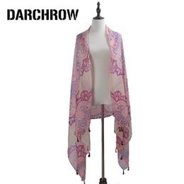 $enCountryForm.capitalKeyWord NZ - DARCHROW Spring Scarf 2018 Silk Scarf Women Flower Printed Scarves New Designer Bohemian Shawls Female Scarves Cover up