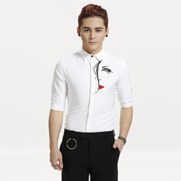 $enCountryForm.capitalKeyWord NZ - S-6XL 2018 New women men's Bar clothing Hair Stylist GD Fashion Nightclub Personality printing Shirt plus size Singer costumes