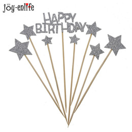 $enCountryForm.capitalKeyWord Australia - 8pcs happy birthday Cupcake Topper Picks cake topper child kids boy gir party favor baby shower newborn cake decoration