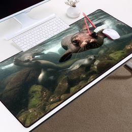 $enCountryForm.capitalKeyWord Australia - Congsipad Funny Seagull Scenery Cute Seal Figure Mousepad super Big Large Size Table Mats Pc Laptop Gaming Mouse Mat Micemat Pad