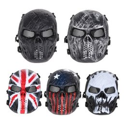 skeleton tactical mask 2019 - Scary Mask Halloween Skull Mask Army Outdoor Tactical Paintball Mask Full Face Protection Breathable Party Decor Costume