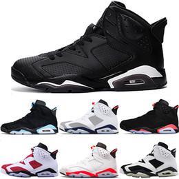 b05f702847 Nike Air Jordan 6 Retro Männer 6 6s Basketball Schuhe UNC Tinker Schwarze  Katze Gatorade Weiß Infrarot Carmine Maroon Oreo Trainer Sport Sneaker  Größe 41-47 ...