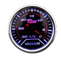 "Universal 2"" 52MM Universal Mechanical Vacuum Car Gauge 0-30 InHg Meter Auto White LED"