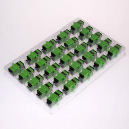 50PCS / sac SC à SC APC mode Simplex Adaptateur de fibre optique Bride de coupleur de fibre optique connecteur FC APC