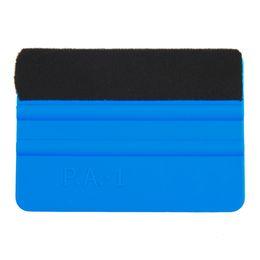 Plastics Car UK - New 1Pcs Squeegee Car Film Tool Vinyl Blue Plastic Scraper Squeegee With Soft Felt Edge Window Glass Decal Applicator