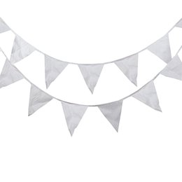 $enCountryForm.capitalKeyWord UK - 40 Flags 16M White Flags Silk Fabric Bunting Pennant Flag Banner Garland Wedding Birthday Baby Show Party Decorative Accessory