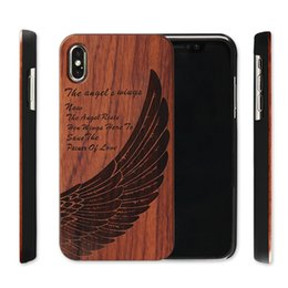 Shell houSeS online shopping - Genuine Wood Case For Iphone XS Max XR Plus Hard Cover Carving Wooden Phone Shell For Iphone Bamboo Housing Luxury S9 Retro Protector