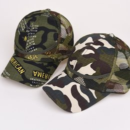 6d2ad2c85d1df Kids Mesh Camouflage Trucker Caps Snapbacks Military Hats For Children Summer  Spring Autumn Sports Caps Army Baseball Caps