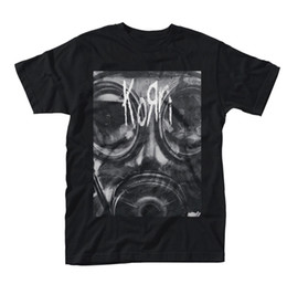 band t s NZ - Korn Gas Mask Shirt S M L XL XXL Official T-Shirt Metal Rock Band Tshirt New 100% Cotton Brand New T-Shirts top tee