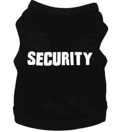 China New Dog Apparel Fashion Cute Pet Dog Puppy Security Cotton T Shirt Tank Top Tee Clothes Clothing apparel suppliers