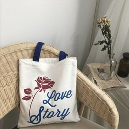 $enCountryForm.capitalKeyWord Australia - 2019 Fashion YILE Zipped Cotton Canvas Rose Flower Eco Shopping Tote Shoulder Bag Love Story CY05