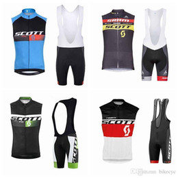 Scott Bikes Canada - SCOTT team Cycling Sleeveless jersey Vest (bib)shorts sets 2018 Latest Bike Top Shirt Size XS-4XL Riding Sweatshirt Outdoor F0213