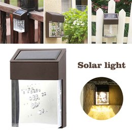 fence decor 2019 - LED Solar Light Outdoor waterproof Wall Light Acrylic LED Porch Lamp Garden Courtyard Decor Fence Light cheap fence deco