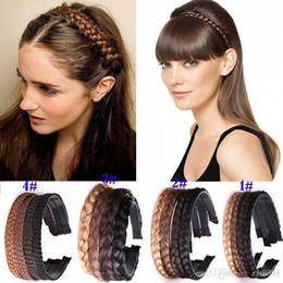 vintage hair wigs NZ - 2018 Women Girls Vintage Headband for women Braids Hair Band Headwear Hair Wig Accessories hair headband