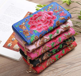 Embroidered Wallet Women NZ - Wholesale multicolor embroidered Women wallet fashion clutch long wallet designer Classic Women Handbag purse lady Travel Bags Female wallet